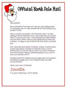 letter from santa template santa letter stationary official pole mail other