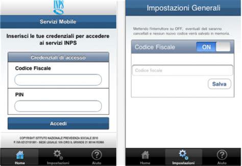 codice sedi inps inps i nuovi servizi mobile domande e cedolino pensioni
