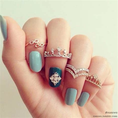 mid finger rings tumblr infinity and crown rings pictures photos and images for