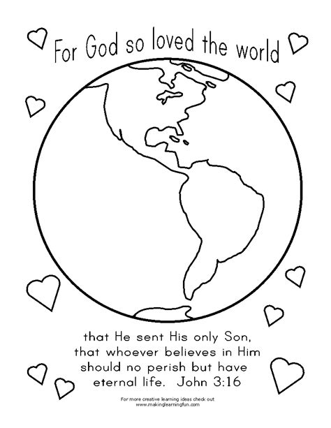 coloring page for god so loved the world free god made weather coloring pages