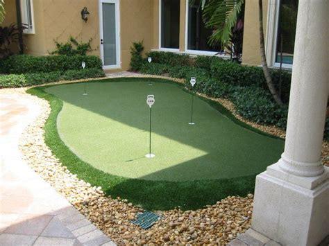 practice golf in backyard backyard putting green decks pinterest