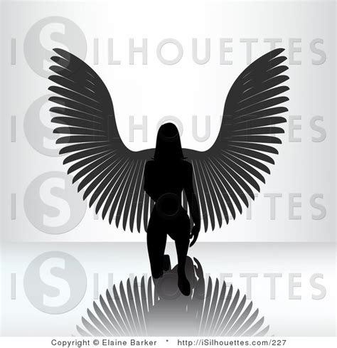designing silhouettes of angels demo silhouette clipart of a kneeling angel woman on a