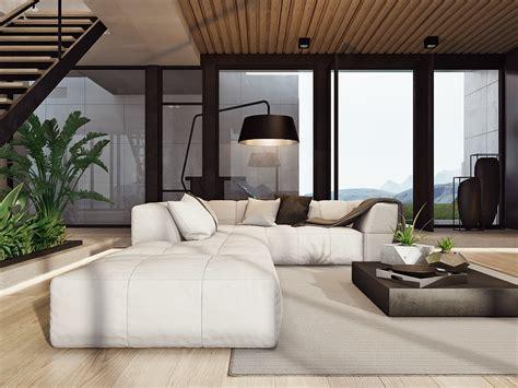 living room looks modern home interior design arranged with luxury decor