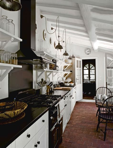 brick floor in kitchen cottage style homes best craftsman the newlywed diaries the truth about open shelves