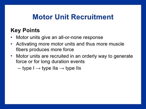 pattern of motor unit recruitment recruitment of motor units impremedia net