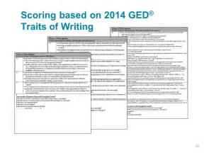 Ged Essay Sles 2014 by Ged Essay Rubric Scoring