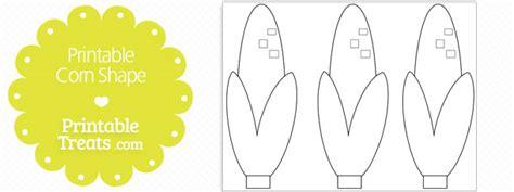 printable corn shape template printable treats com