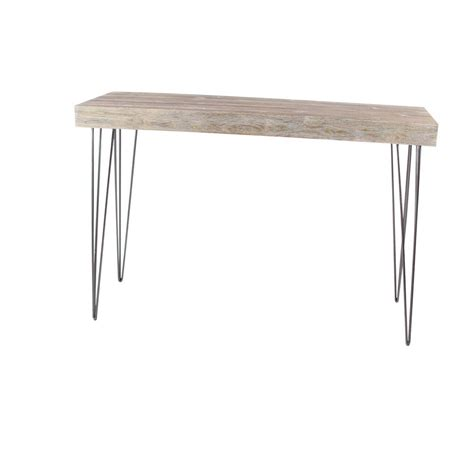 gray wood console table modern elegance gray wood and iron console table 56974