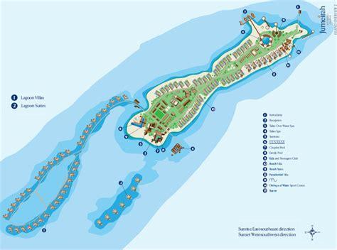jumeirah resort map maldives resort map enlarged