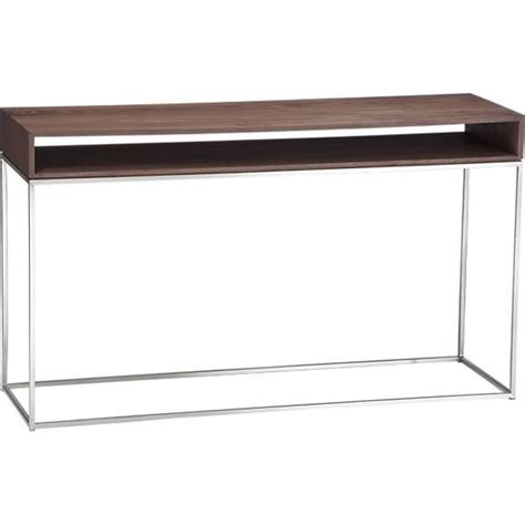 behind sofa console frame console table in tables crate and barrel behind