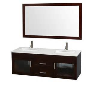 manola 60 inch espresso wall mounted bathroom