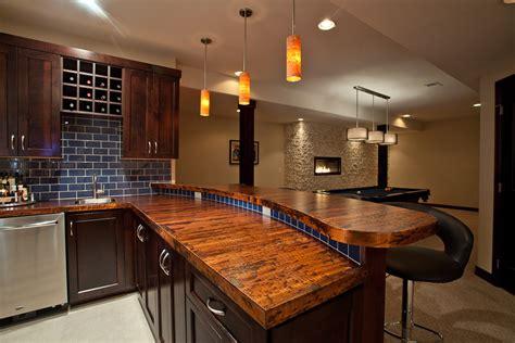 Superior Cheap Bathroom Countertops #9: Bar-countertop-ideas-Basement-Contemporary-with-none-.jpg