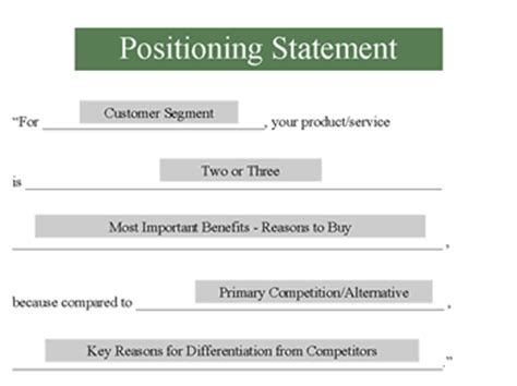 positioning statement template position statement template pictures to pin on