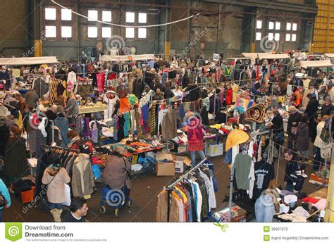 Amsterdam From Factory To Fashion by Vintage Outlet Flea Market Ij Hallen Amsterdam Editorial