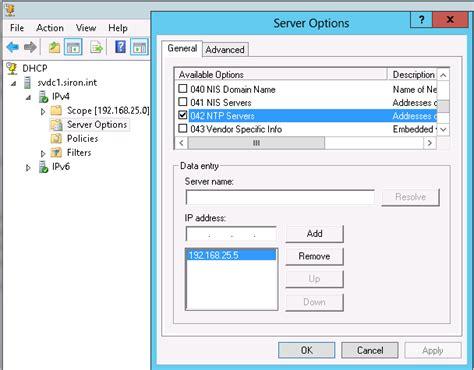 time server settings   windows domain