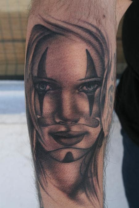black and grey jester tattoos art junkies tattoo studio tattoos black and gray