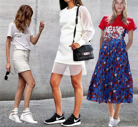 what to wear with sport shoes 10 ways of wearing running shoes and sneakers with dresses