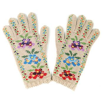 embroidery on knitted items knitted gloves with embroidery model 3 small