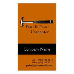 carpenter business cards carpenter business card zazzle