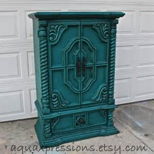 vintage armoire teal bedroom from aquaxpressions