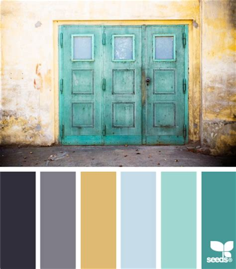 create room color palette gray teal and yellow color scheme decor inspiration
