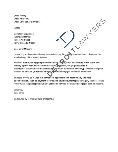 Credit Dispute Letter To Experian Check The Accuracy Of Your Credit Reports Detroit Lawyers