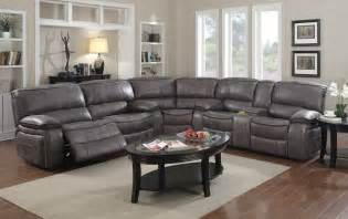 Gray Sectional Sofa With Recliner E Motion Grey Reclining Sectional With Console Kian Usa