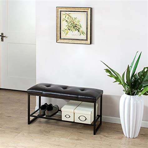 36 entryway bench zinus faux leather tufted hallway entry bed 36