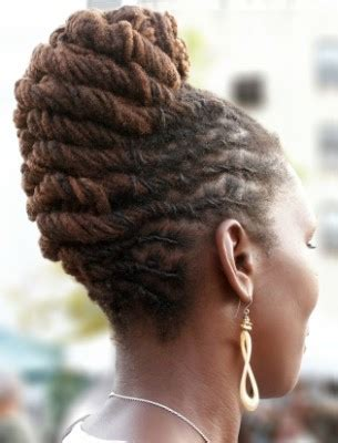 dreadlock french roll hairstyle thirstyrootscom black