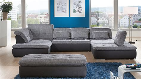 sofa wohnzimmer ecksofa in u form als gem 252 tliche wohnlandschaft