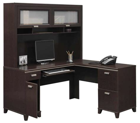 l office desk with hutch office furniture