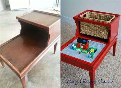 repurpose old furniture into a cute girly play kitchen repurposed end table repurpose old furniture and things