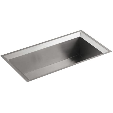 kohler poise stainless steel large single bowl kitchen