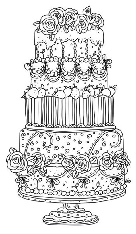 free coloring pages of pretty cake gardens beautiful and coloring on pinterest