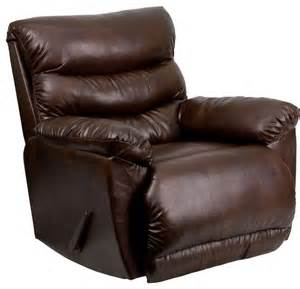contemporary tonto espresso bonded leather rocker recliner