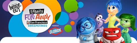Disney Channel Cruise Sweepstakes 2015 - disney pixar inside out family fun away in san francisco sweepstakes disney com