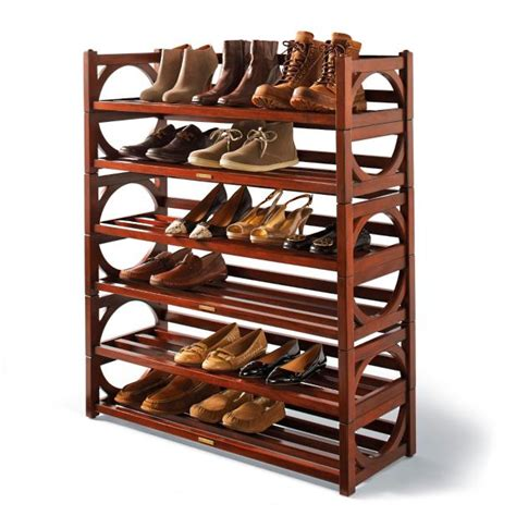 heritage stacking shoe rack frontgate