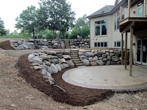 Landscaping Ideas Retaining Wall Hillside Chils Landscape Photo Gallery