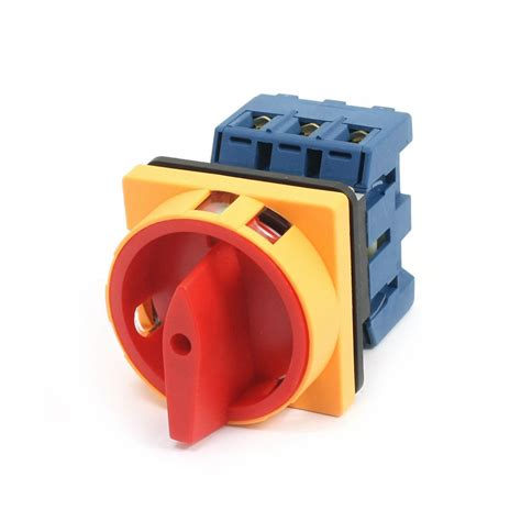 Switch Breaker load circuit breaker rotary switch ac 660v 40a 6 terminals 3 poles 3 phases 3no 2 on
