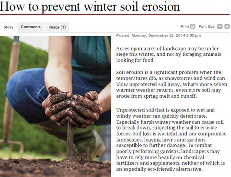 Landscape Fabric To Prevent Soil Erosion Prevent Soil From Breaking Up With Winter Landscaping