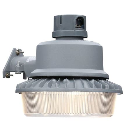 Lithonia Lighting Gray Outdoor Integrated Led Area Light Outdoor To Dusk Lights