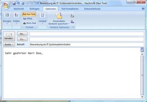 Bewerbung Per Mail Bewerbung Per E Mail Eine E Mail Bewerbung Erstellen
