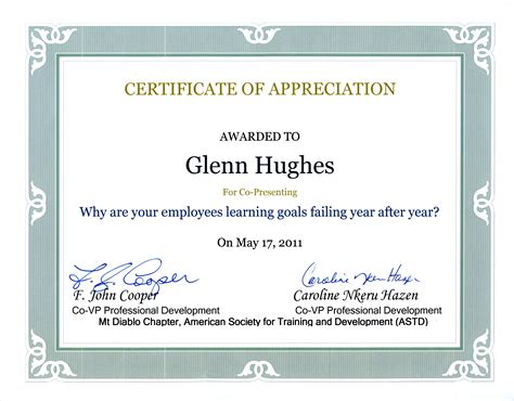 certificate of appreciation wording sles just b cause