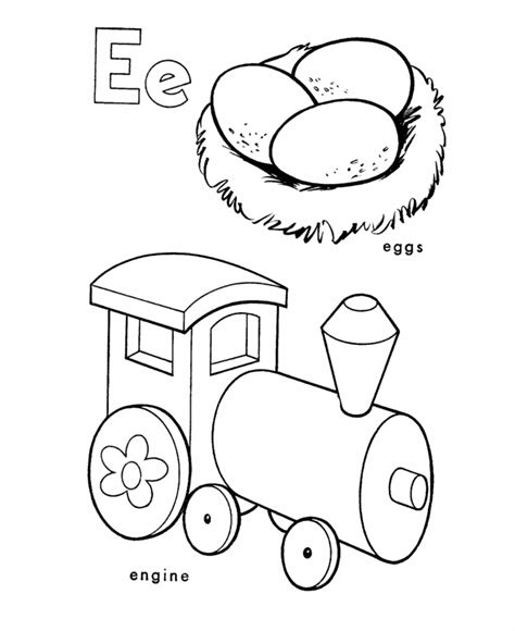color beginning with e letter e coloring page az coloring pages