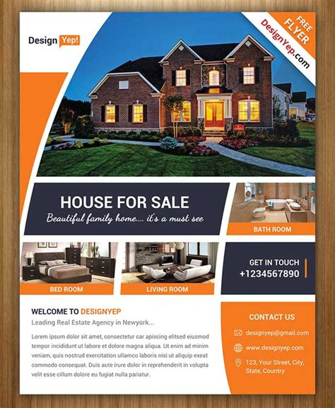 30 Amazing Free Real Estate Flyer Templates Psd Download Real Estate Listing Flyer Template Free