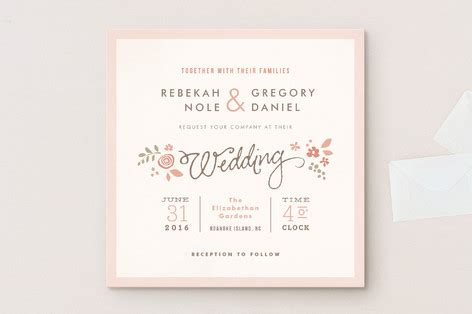 difference between day and evening wedding invitations pink blossoms wedding invitations by wick minted