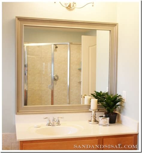 How To Frame An Existing Bathroom Mirror Update Bathroom Mirror Diy For The Home