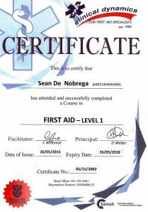 Aid Certificate Template by Basic Aid Certificate Template Certificate234
