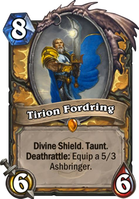 Legendary Paladin Deck by Tirion Fordring Hearthstone Card