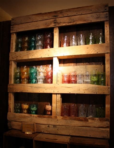 Pallet Shelf Plans by Diy Wooden Pallet Shelves With Storage Pallet Furniture